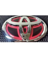 1 Pcs, Black & Red Toyota Corolla 3D Emblem Chrome Front Grill, 140X95 mm. - $24.99