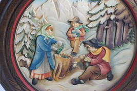 Anri 1979 Christmas Plate Made In Italy Schmid Hand Crafted Moss Gatherers - $67.24
