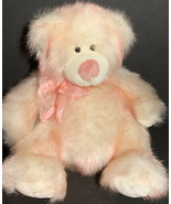 """Russ Berrie & Co.  Taffie Sparkly 9"""" Bear Hard To Find Retired Pink & Cream - $17.99"""