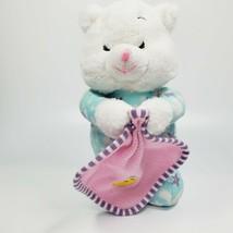 Vintage Goffa Praying Teddy Bear W/ Security Blanket Plush Blue Stuffed Animal  - $22.95