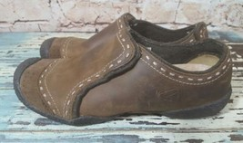 Keen Moc 6.5 Loafers Chamonix Casual Brown Leather Z - $18.69