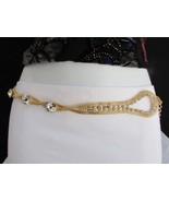 Damen Mode Gürtel Hüfte Taille Gold Masche Metall Kettenglied Silber Bling - $24.74