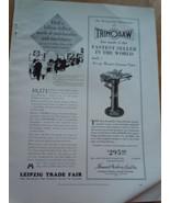 Vintage Trim Saw & Leipzig Trade Fair Small Print Magazine Advertisement... - $12.99