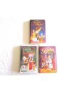 Disney Beauty & The Beast 3 VHS Lot (Original, Christmas, Belle's Magica... - $12.99