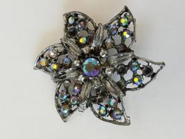 Women Fashion Gemstones Flower Brooch Pin - $11.34