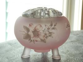 Vintage Viking Glass Satin Plum Pink Flowerlite with 11 Hole Glass Flowe... - $160.00