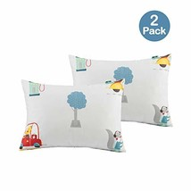 Sivio Kids Pillowcase - 2 Pack 100% Cotton - Hypoallergenic Safe and Comfortable