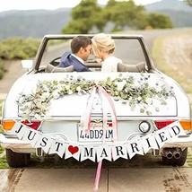 GuassLee JUST MARRIED Wedding Banner Set - Wedding Decorations for Recep... - $9.22