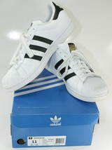Men's Adidas Superstar Shoes, white with black stripes size 11 with Box - $34.55