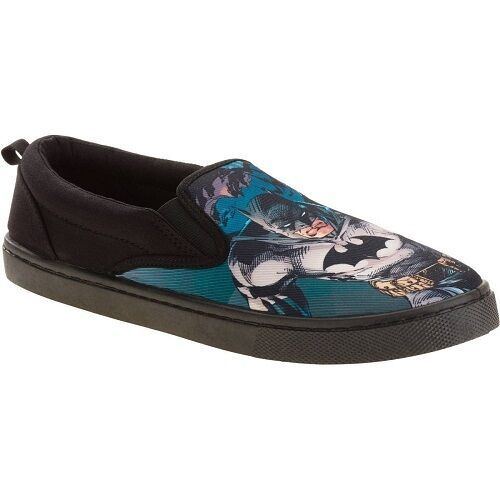 Batman Men's Canvas Slip On Shoe Size 7,10,11,13 NWT