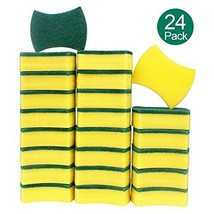 esafio 24 Pack Non-Scratch Scrub Sponge, Super Absorbent Multi-Use Cleaning Spon