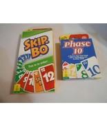 Skip-Bo & Phase 10 Bundle- 2 Excellent Card Games- NIB- FREE SHIPPING - $24.95