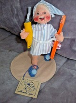Vintage 1993 Annalee Bedtime Boy Doll Brushing Teeth Toothpaste Htf Rare Item - $49.95