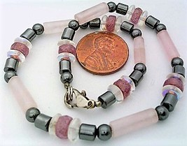 Rose Quartz Gemstone Anklet 2 - $12.04