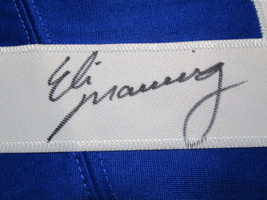 ELI MANNING / AUTOGRAPHED NEW YORK GIANTS BLUE PRO STYLE FOOTBALL JERSEY / COA image 4