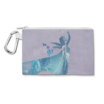 Elsa Frozen Let It Go Disney Princess Canvas Zip Pouch - $15.99+