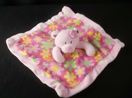 First Impressions Security Blanket Lovey Pink Floral Teddy Bear - $19.75