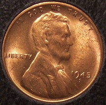 1945-S Lincoln Wheat Back Cent Gem BU #0739 - $4.99