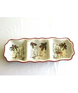 Better Homes Gardens Serving Dish Winter Holiday Heritage Tray 3 Section... - $24.99