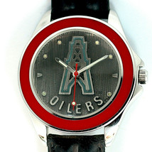 Houston Oilers NFL, Fossil New Unworn Mans Vintage 1993, Leather Band Watch! $79 - $78.06