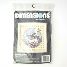 Vintage 1989 Dimensions Needlepoint Kit 7130 Rocking Goose 5 x 5 New Sealed - $18.95