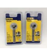 """(New) IRWIN Marples 1966900   1""""  FORSTNER BIT Pack of 2 - $17.81"""