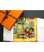 """NWOT Authentic Hermes Paris Scarf """" Les Cheyennes"""" Kermit Oliver Carre 90 CM  - $575.00"""