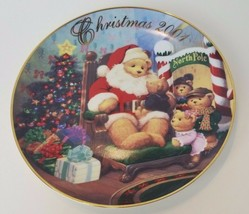 A Visit from Santa 2001 Christmas Plate Avon Holiday Tom Newson 22k Gold... - $8.80