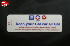 71 Pontiac 350-2V AT/MT Keep Your GM All GM Air Cleaner Decal PF 6486106 A331C - $999.99