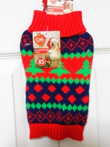 Pet Central Christmas Holiday Tree Pet Dog Sweater-XS - $9.89