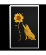 Pug Sunflower You Are My Sunshine Pug Lovers CANPO75 Portrait Canvas .75... - $25.00+