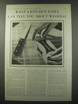 1930 Fels Naptha Soap Ad - What a kitchen knife can tell you about washday - $14.99