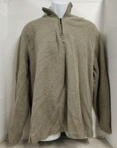 1/2 Zip Pullover Size XL Mens JOE Joseph ABBOUD COTTON Dark Tan Casual S... - €7,21 EUR