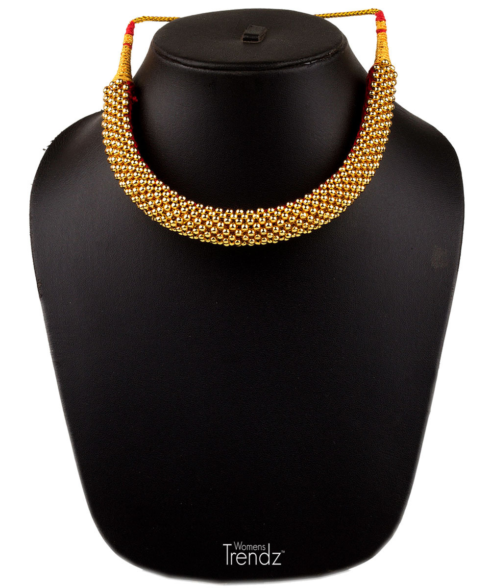Womens Trendz Weny Thushi 24K Gold Plated Alloy Necklace  - $42.00