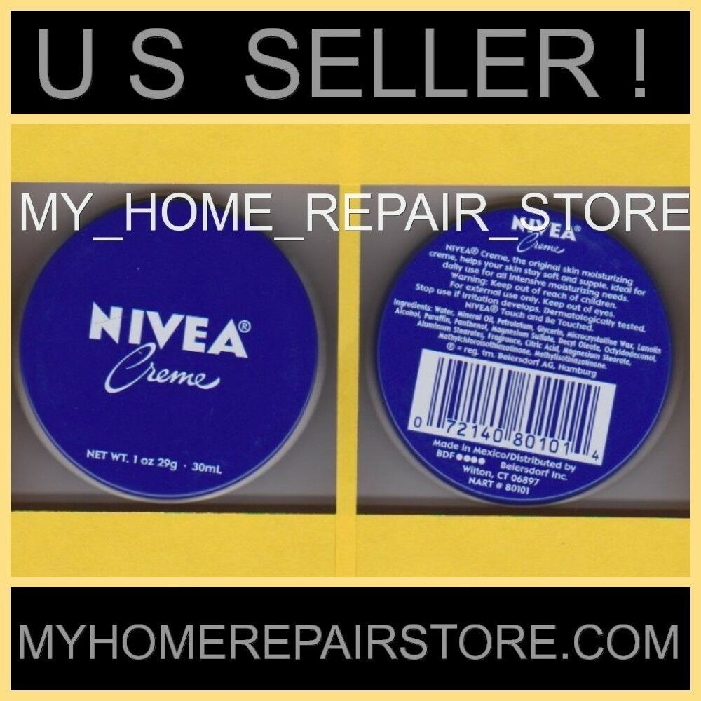 FREE S&H! YOU GET 2! NIVEA CREME SKIN MOISTURIZER TIN PURSE TRAVEL SIZE 1 OZ