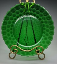 """Anchor Hocking Emerald Green Bubble Glass Dinner Plate 9 3/8"""" Depression Glass - $19.99"""