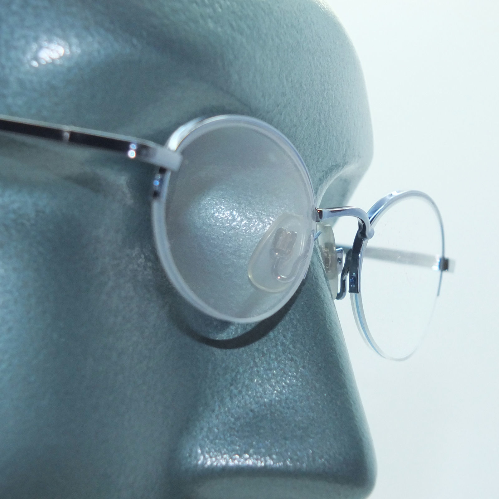 Primary image for Petite Semi Frameless Bottomless Hint Of Tint Blue +1.00 Reading Glasses