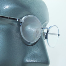 Petite Semi Frameless Bottomless Hint Of Tint Blue +1.00 Reading Glasses - $22.00