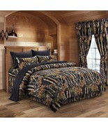 The Woods Camo Black 12 Piece King Size Comforter and Sheet Set with Cur... - $109.25