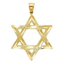14K Yellow Gold Star of David Pendant - $284.99