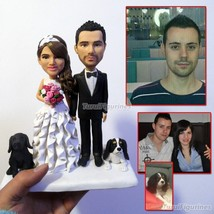 Turui Figurines Personalised clay Wedding cake topper gay wedding clay f... - $148.00