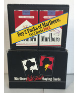 Marlboro Wild West Playing Cards 2 Decks Cigarette Advertising Country S... - $23.75