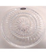 "NEW GENUINE LEAD CRYSTAL GLASS ASHTRAY 6.75"" DIAMETER MADE IN USA - $8.99"