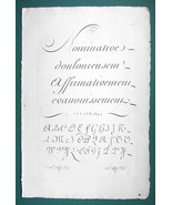 "1826 PENMANSHIP Calligraphy Copperplate- 12"" x 18"" (30 x 46 cm) Superb P... - $30.34"
