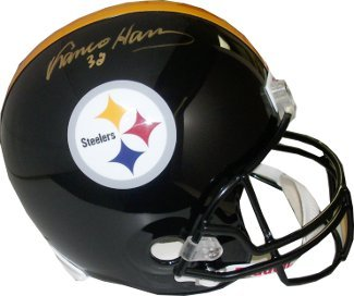 Primary image for Franco Harris signed Pittsburgh Steelers Full Size Replica Helmet #32 (Gold sig)