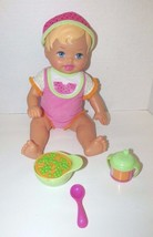 Fisher Price Little Mommy Baby Doll pink blonde watermelon outfit hat cu... - $19.79
