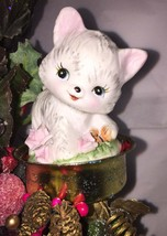 Handcrafted Home Office Christmas Decor Kitty and Clown - $29.99