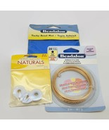 3 Piece Mixed Lot of Jewelry Making Supplies Wire, Mat & Hi Lon Thread New - $14.55