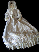 "OOAK Christening Doll Extremely Detailed 36"" Eyelet Hand Made Artist Sig... - $78.39"