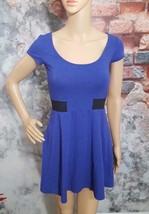 American Eagle Outfitters Dress Purple Stretch A Line Dress Cap Sleeve W... - $11.83